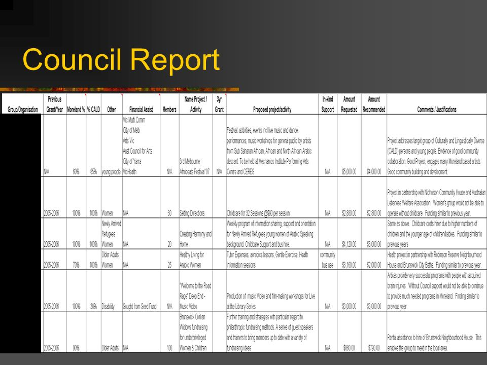 Council Report