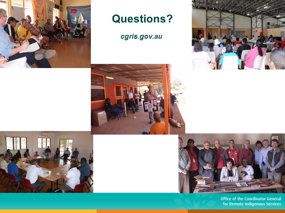 Questions? cgris.gov.au