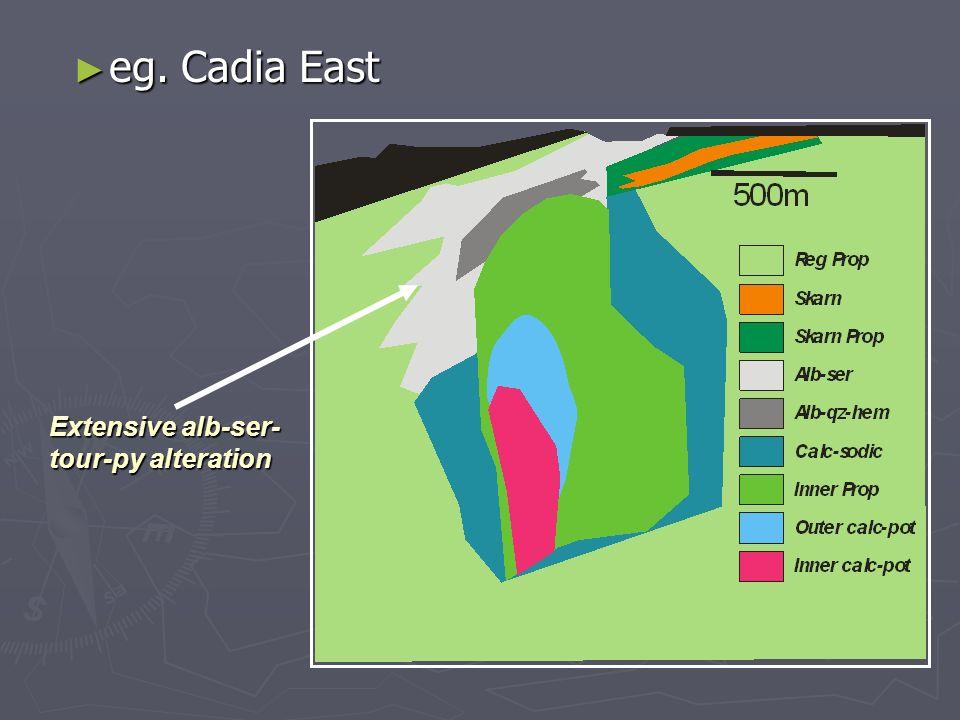 eg. Cadia East eg. Cadia East Extensive alb-ser- tour-py alteration
