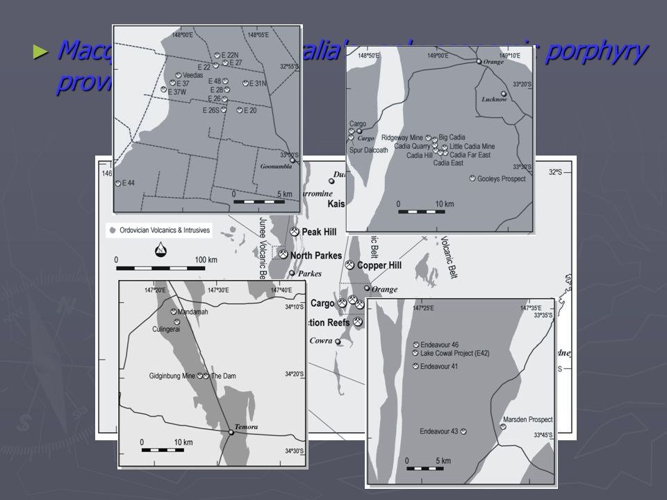Macquarie arc - Australia's only economic porphyry province Macquarie arc - Australia's only economic porphyry province
