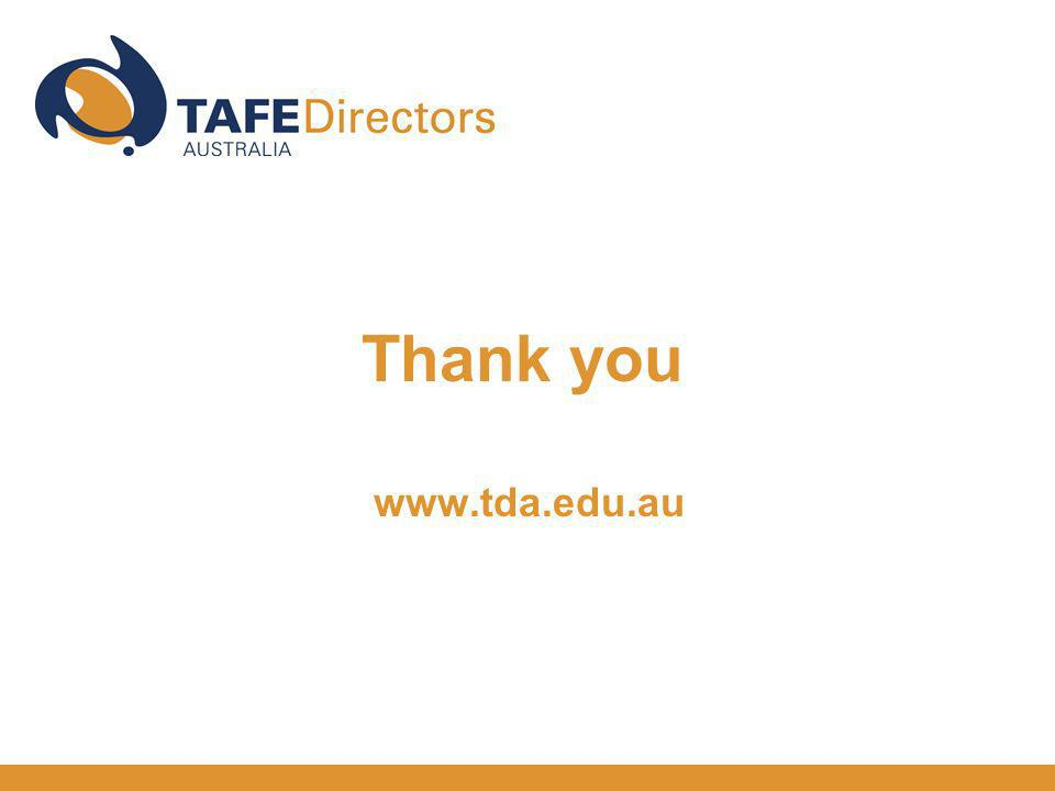 Thank you www.tda.edu.au