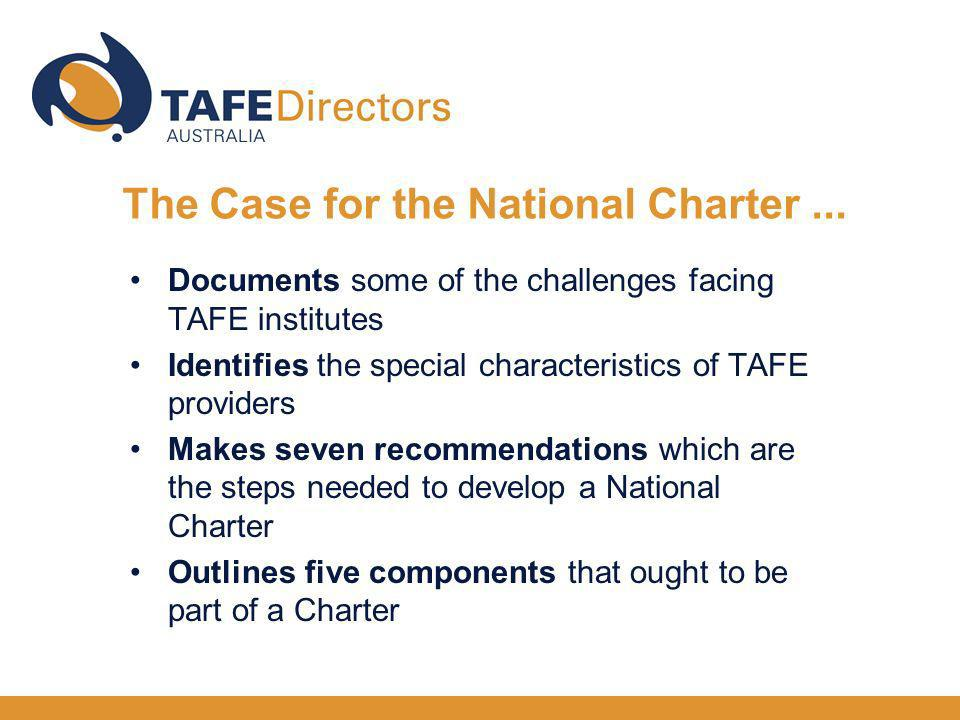 The Case for the National Charter...