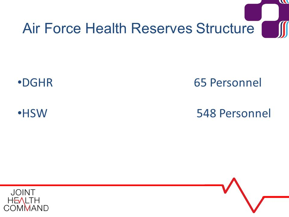 Air Force Health Reserves Structure DGHR 65 Personnel HSW 548 Personnel