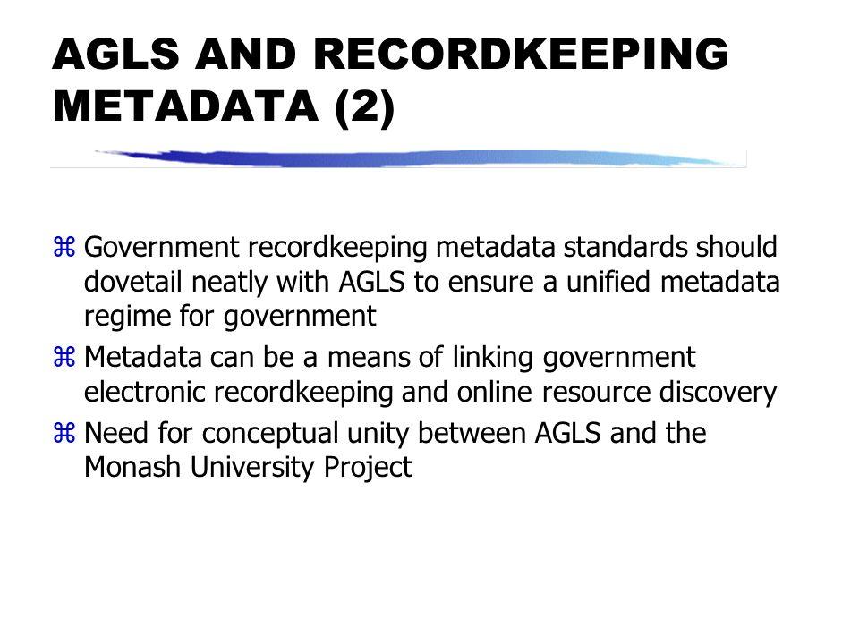 EMERGING STANDARDS FOR ELECTRONIC RECORDKEEPING METADATA zUniversity of British Columbia templates zUniversity of Pittsburgh metadata specifications f