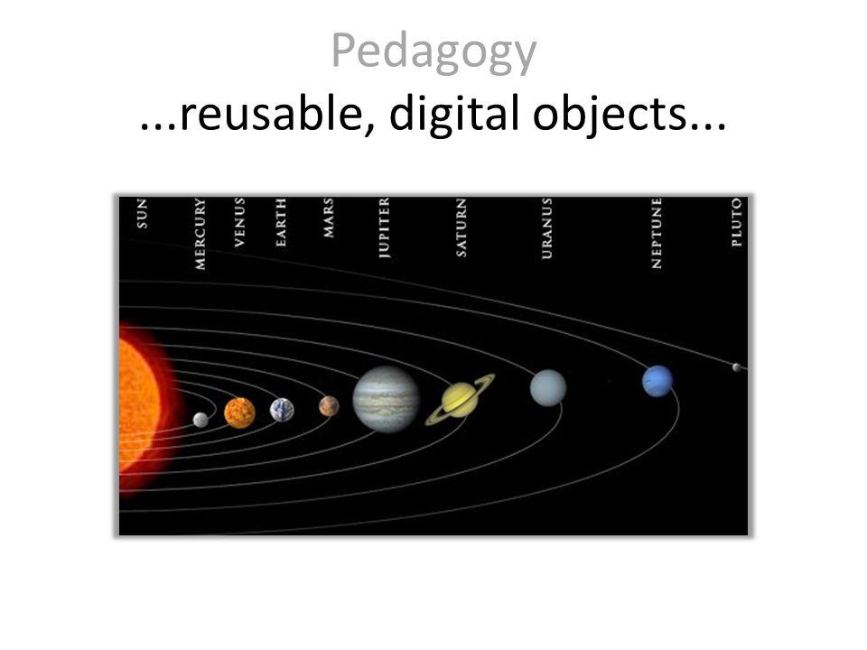 Pedagogy...reusable, digital objects...
