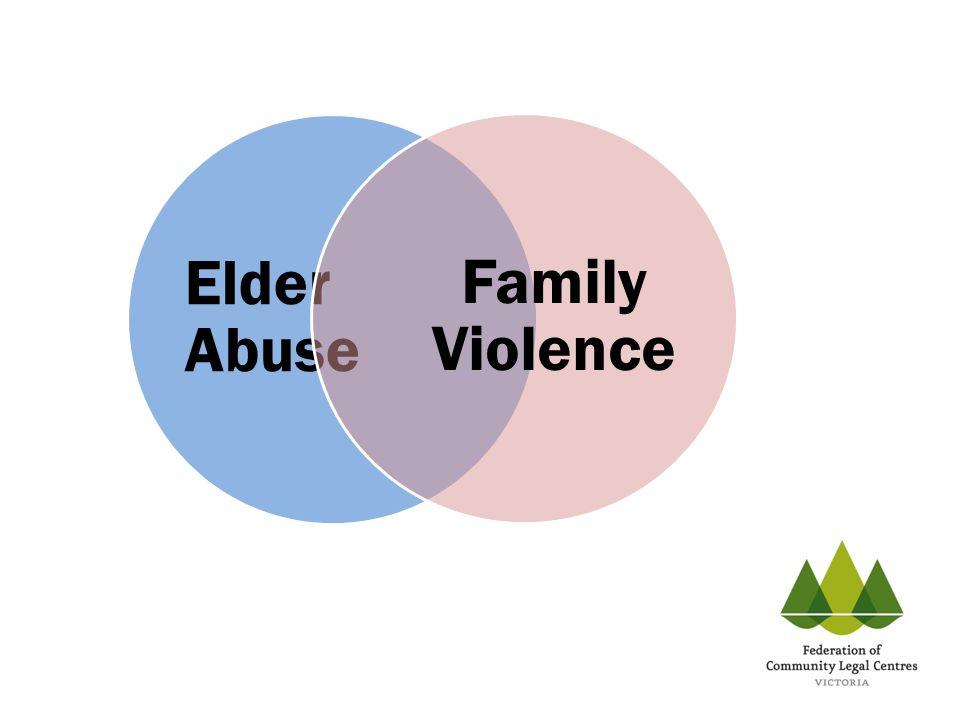Elder Abuse Family Violence
