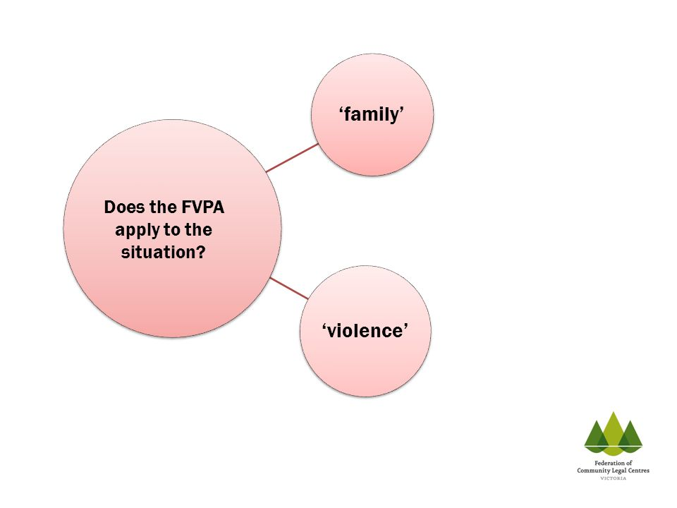 family violence Does the FVPA apply to the situation?
