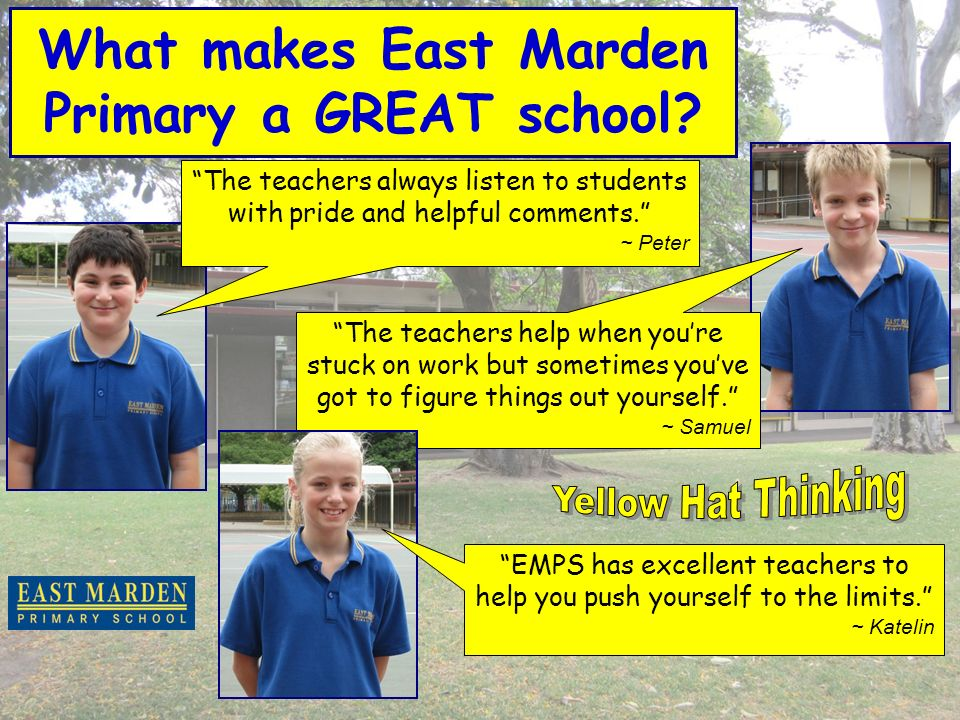 What makes East Marden Primary a GREAT school.