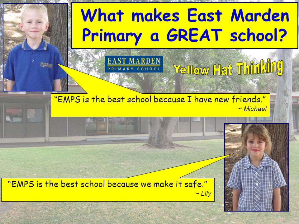EMPS is the best school because we make it safe.