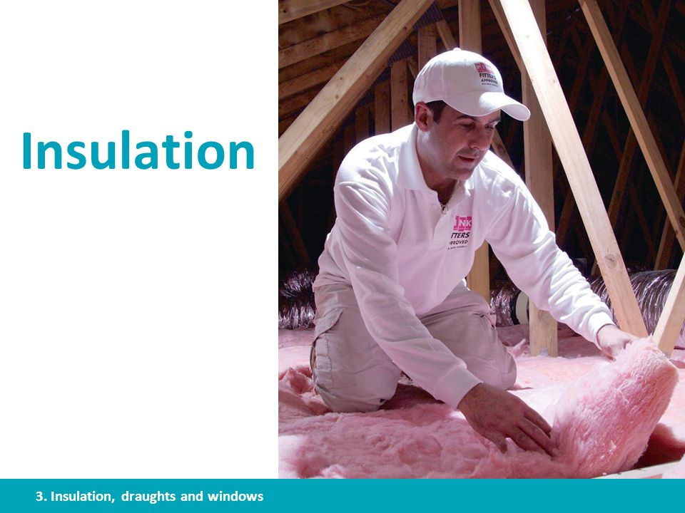 Insulation 3. Insulation, draughts and windows