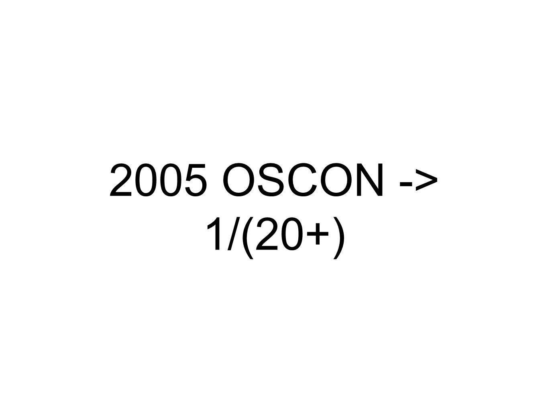 2005 OSCON -> 1/(20+)