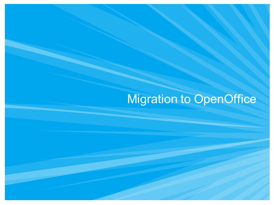 Migration to OpenOffice