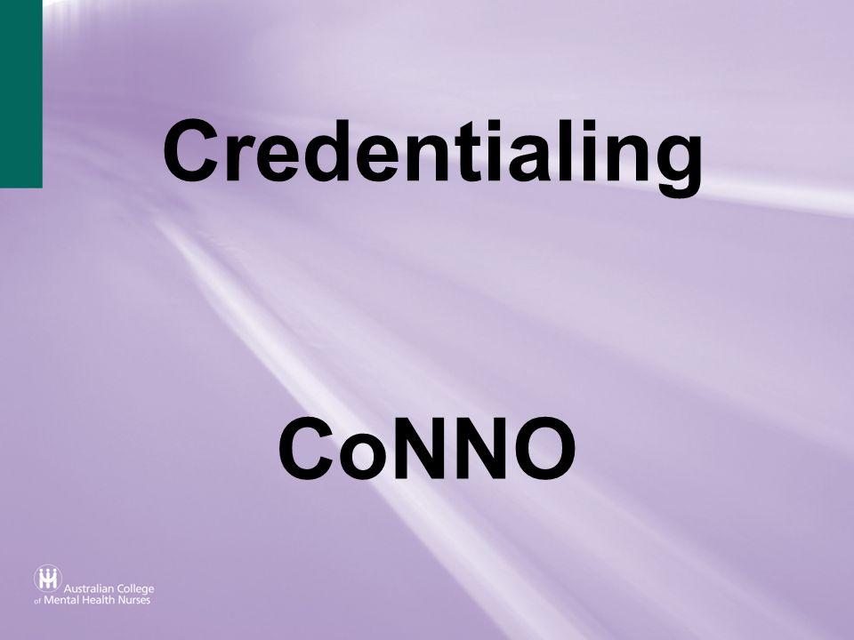 Credentialing CoNNO