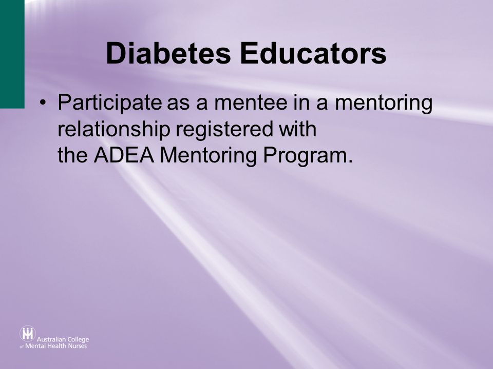 Participate as a mentee in a mentoring relationship registered with the ADEA Mentoring Program.