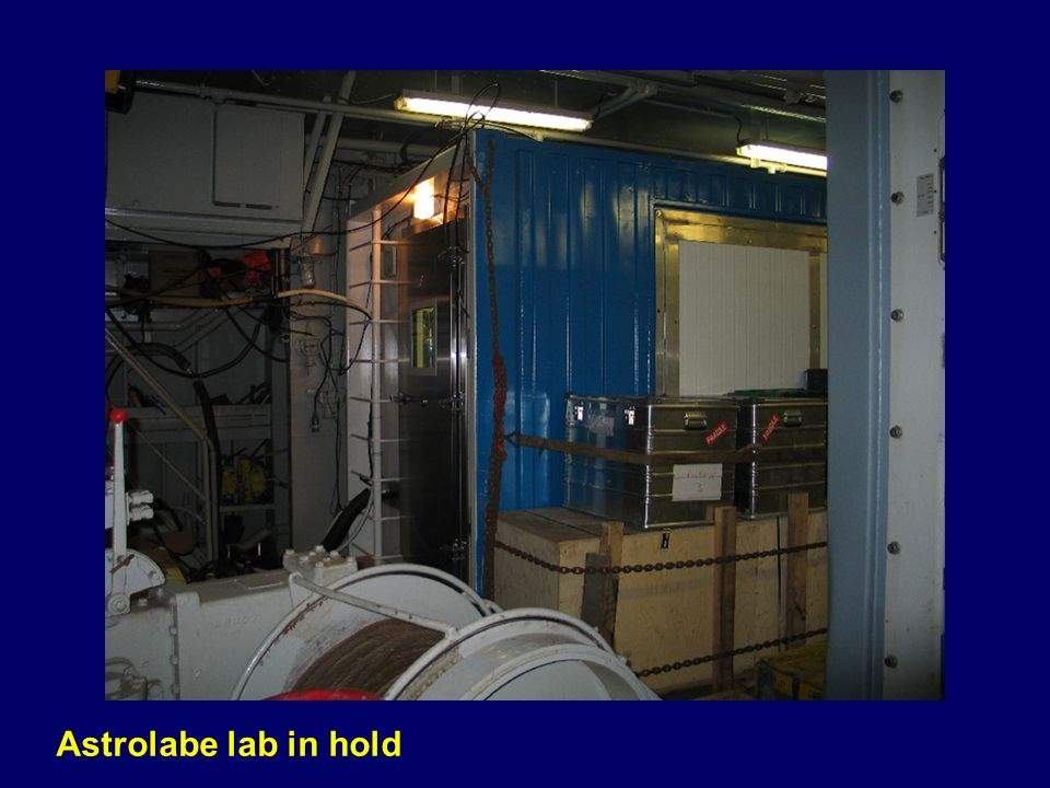Astrolabe lab in hold