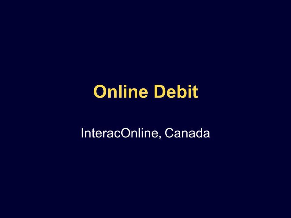 Online Debit InteracOnline, Canada