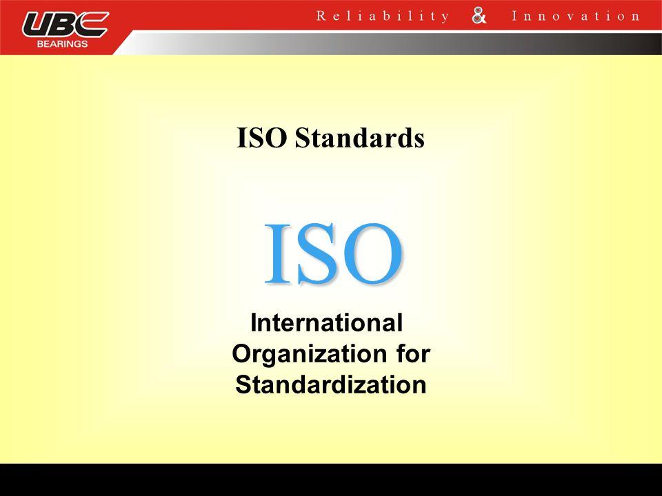 International Organization for Standardization ISO ISO Standards
