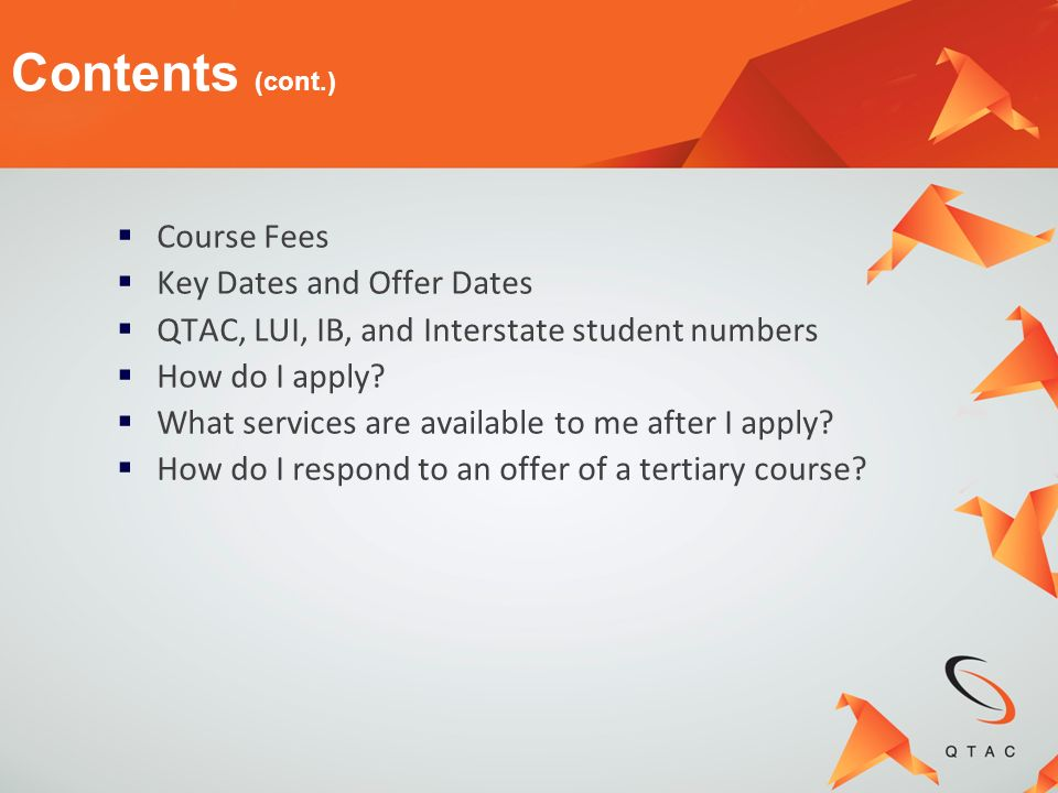 You can apply through QTAC for tertiary courses if you are: An Australian or international student completing Year 12 in Australia Achieving an OP or a QTAC Selection Rank (if you are OP ineligible) Completing an IB Diploma or partially completing an IB Diploma (at least five subjects at either Higher Level or Standard Level) Who can apply through QTAC?