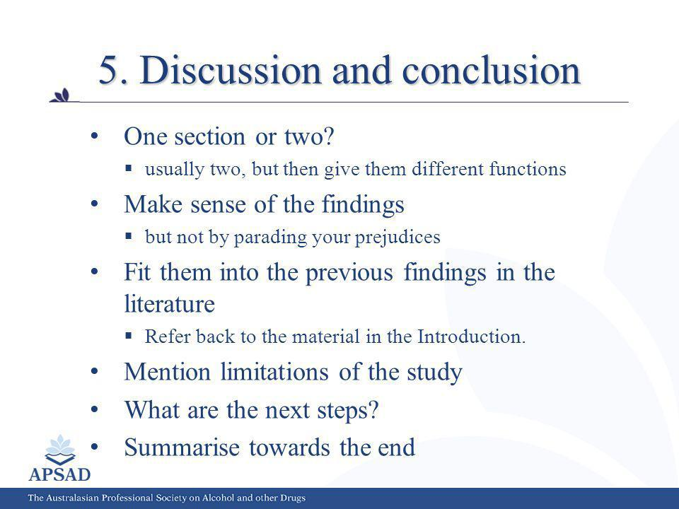 5. Discussion and conclusion One section or two.