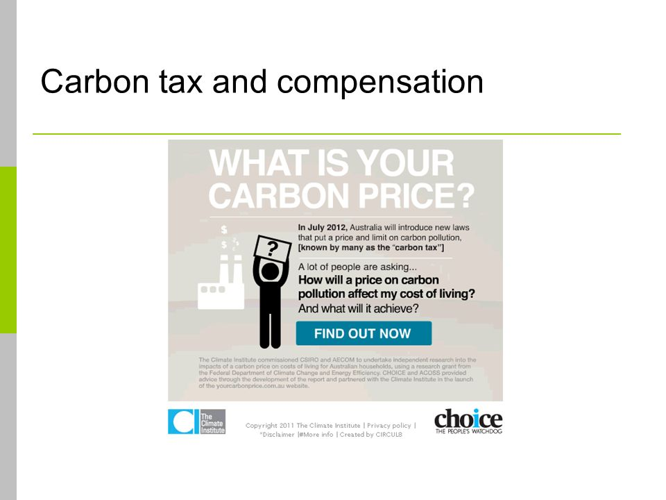 Carbon tax and compensation