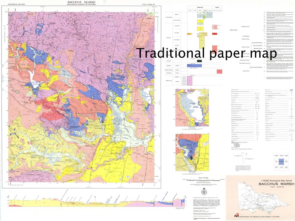 Traditional paper map