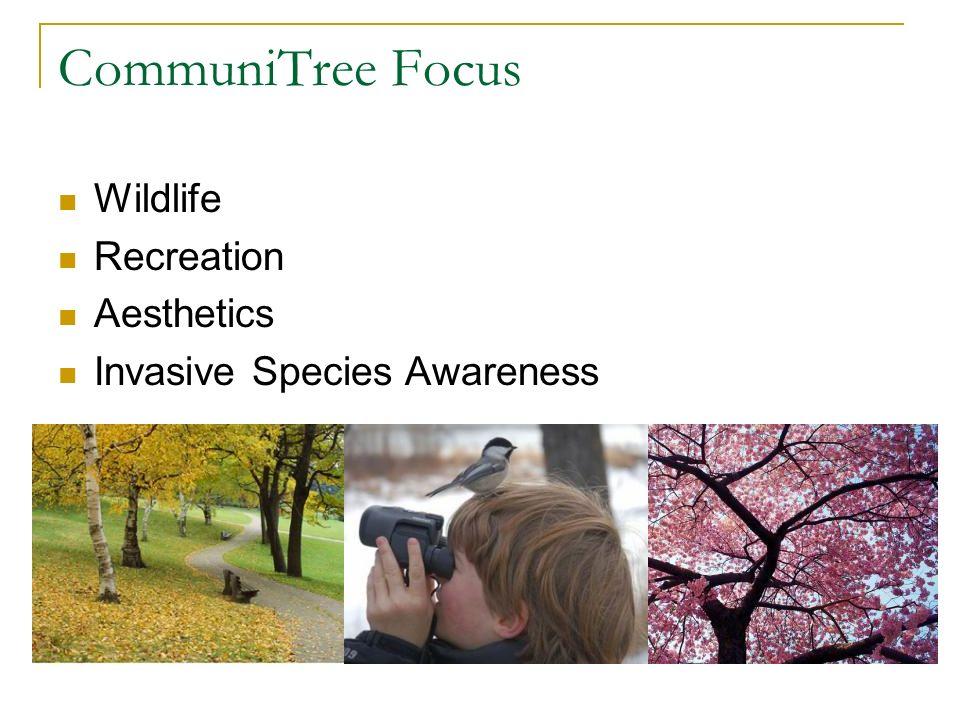 CommuniTree Focus Wildlife Recreation Aesthetics Invasive Species Awareness