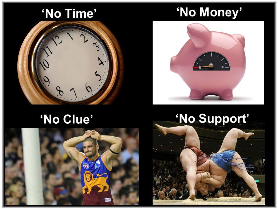 No Time No Money No Clue No Support