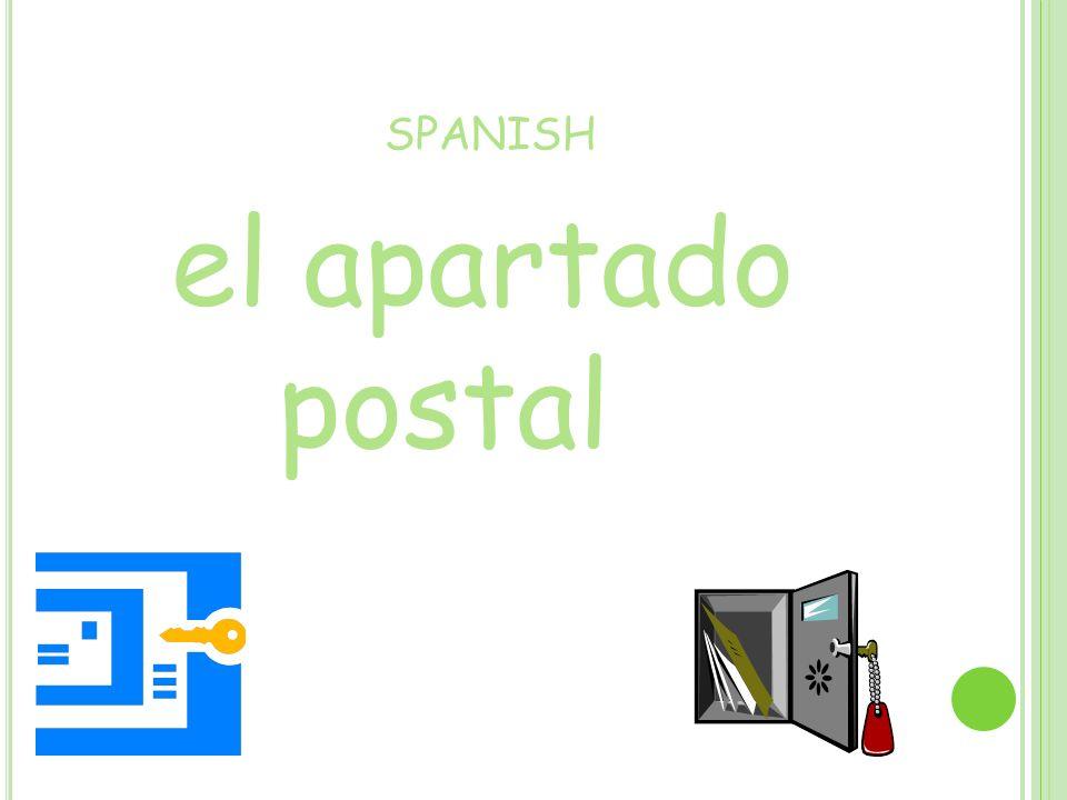 SPANISH el apartado postal