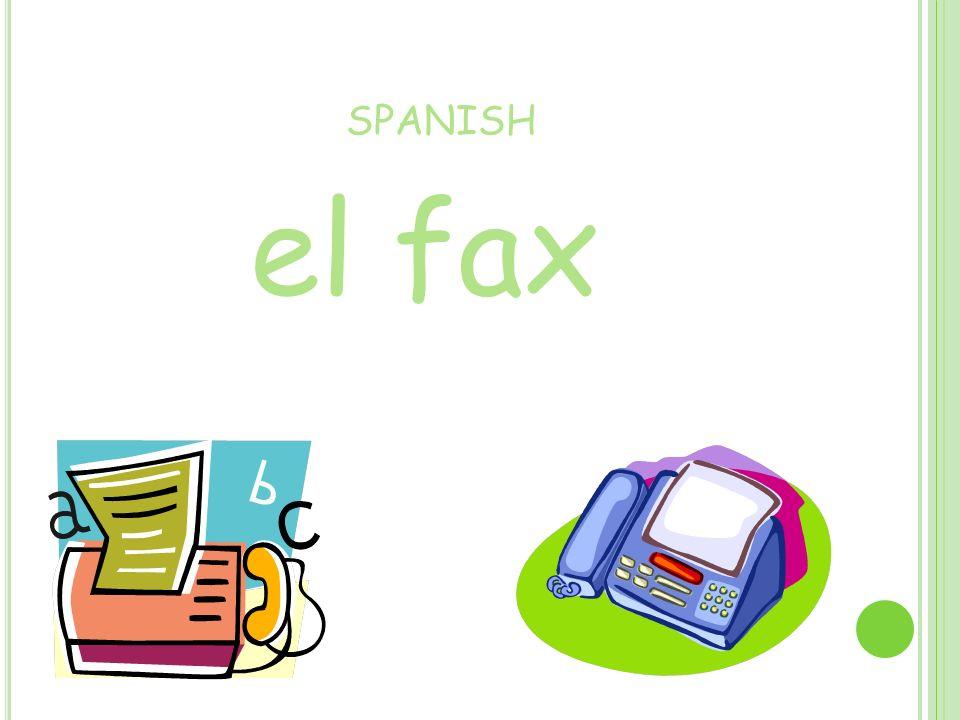 SPANISH el fax