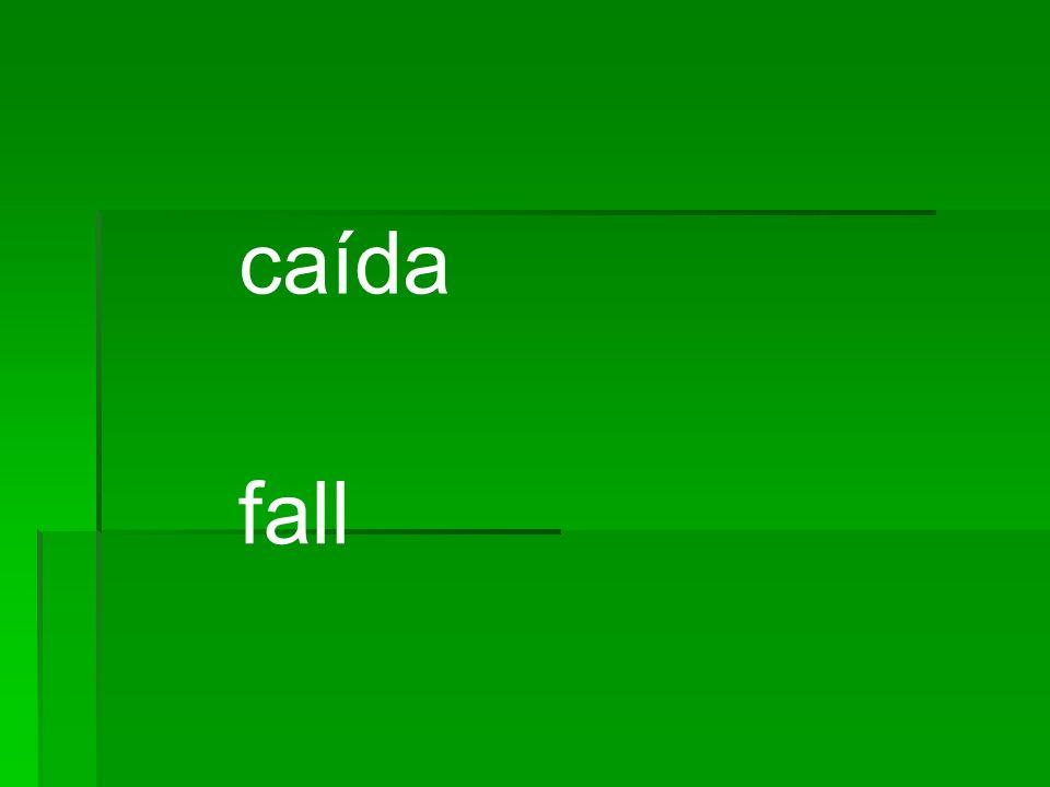 caída fall