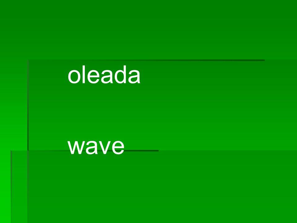 oleada wave
