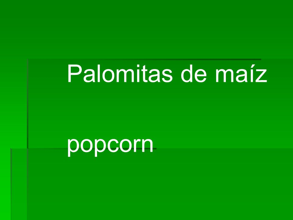 Palomitas de maíz popcorn