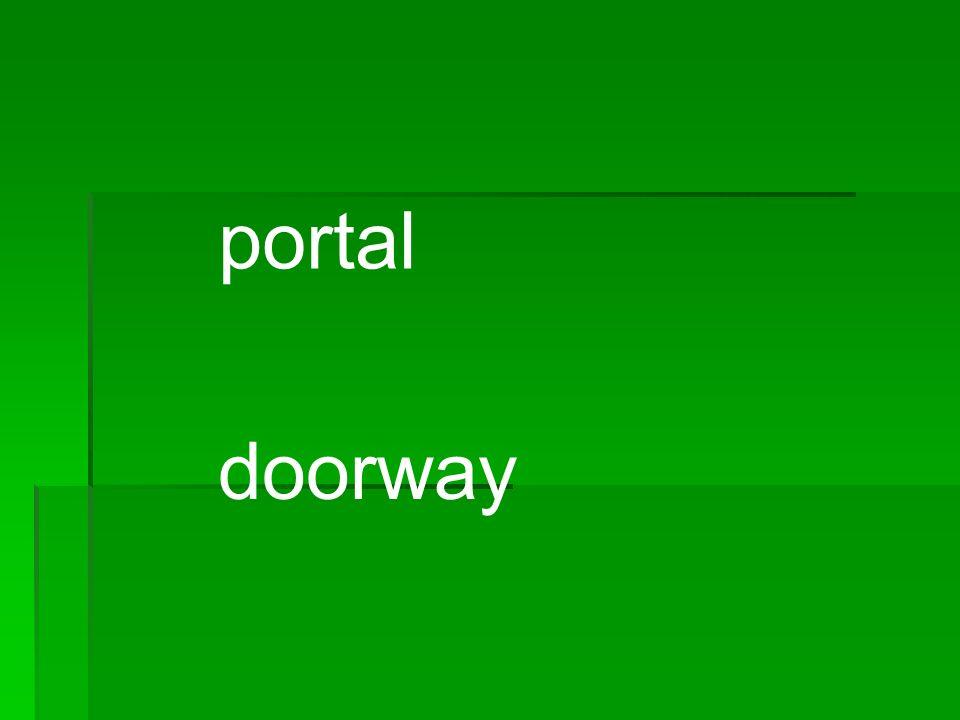 portal doorway