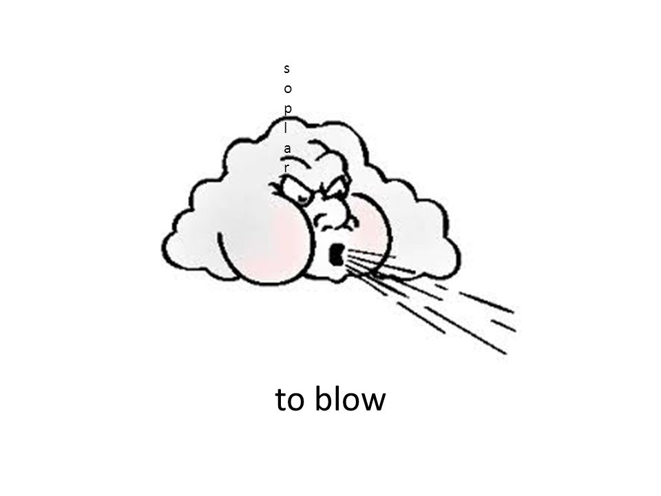 to blow soplarsoplar