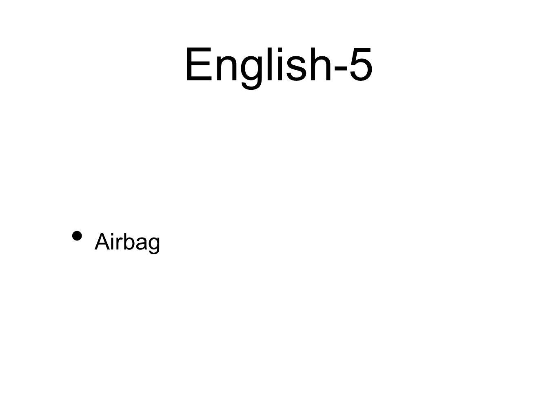 English-5 Airbag