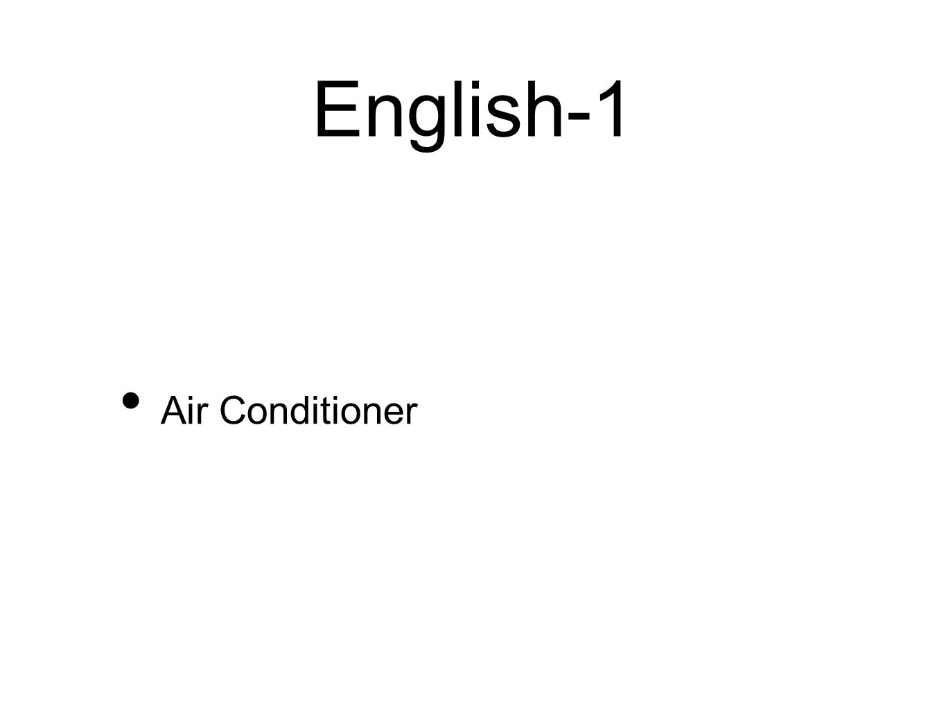 English-1 Air Conditioner