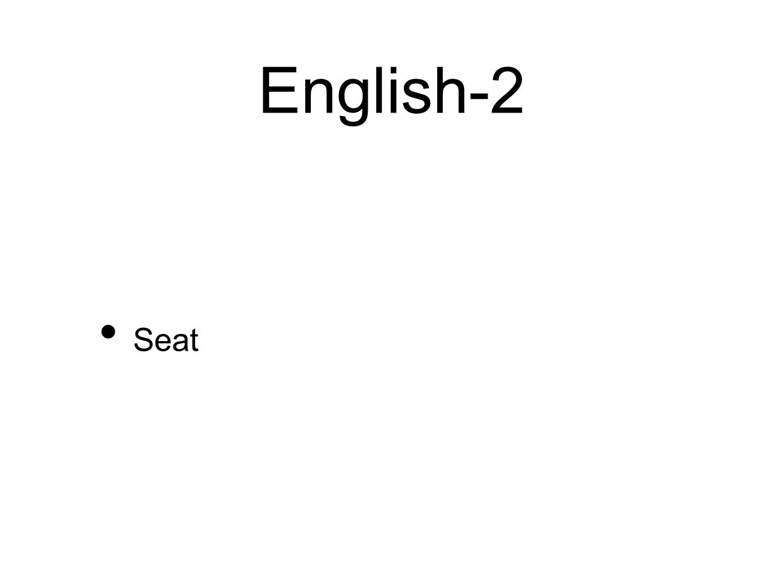 English-2 Seat
