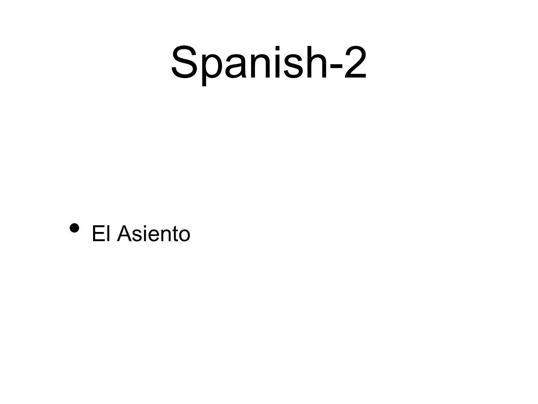 Spanish-2 El Asiento