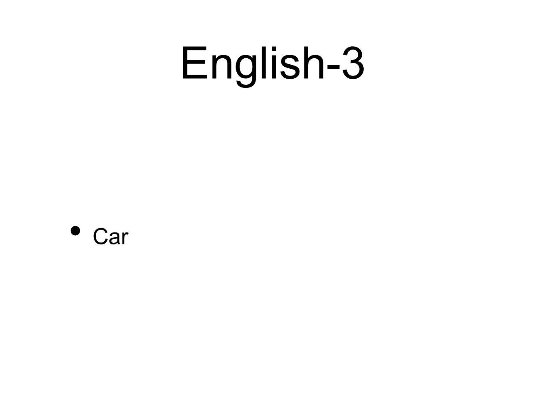 English-3 Car