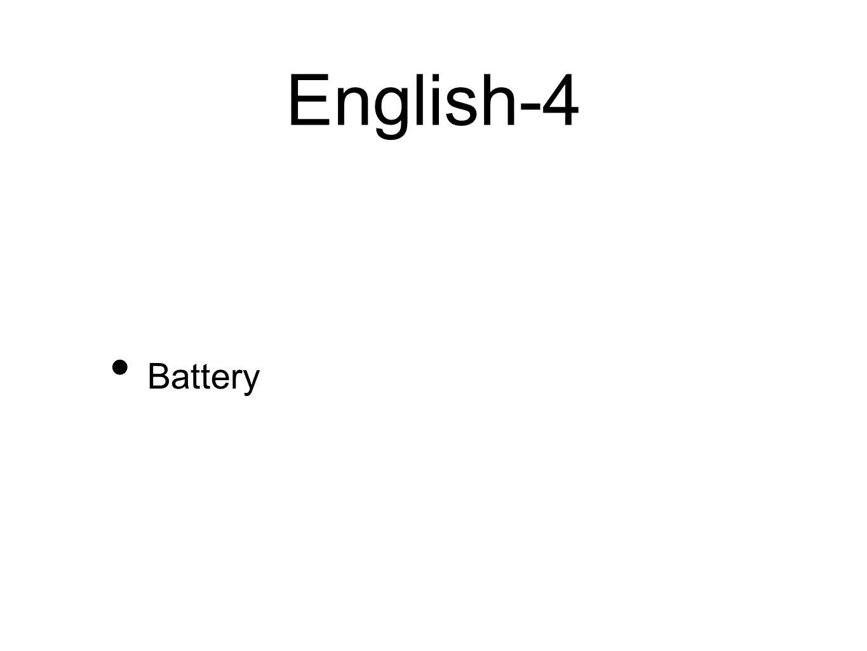 English-4 Battery