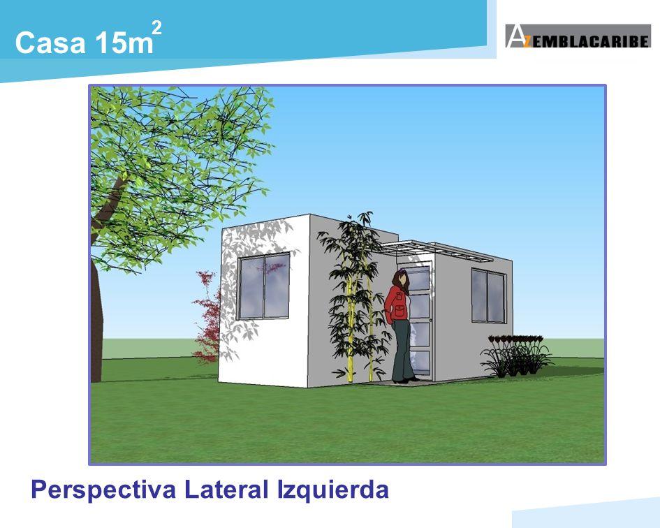 Casa 15m Perspectiva Lateral Izquierda 2
