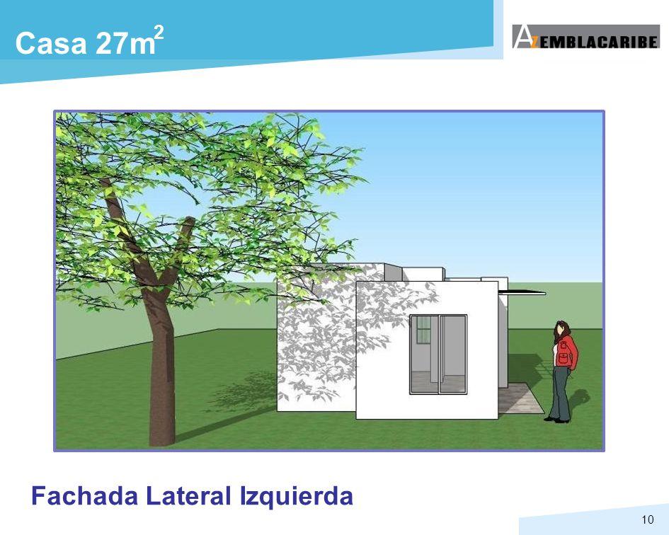 10 Casa 27m 2 Fachada Lateral Izquierda