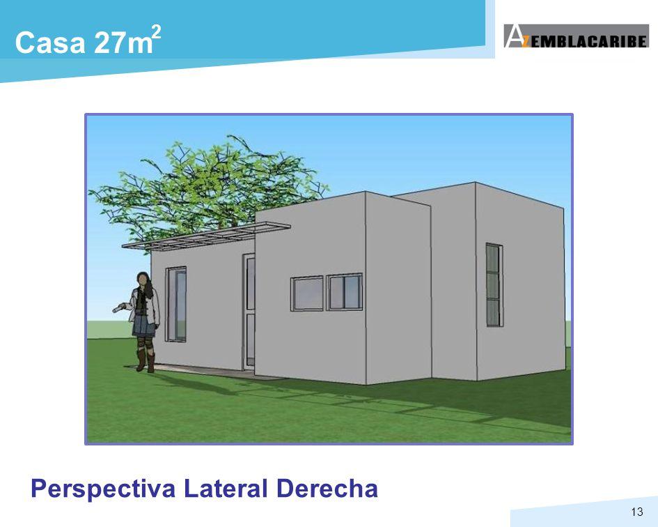 13 Casa 27m 2 Perspectiva Lateral Derecha