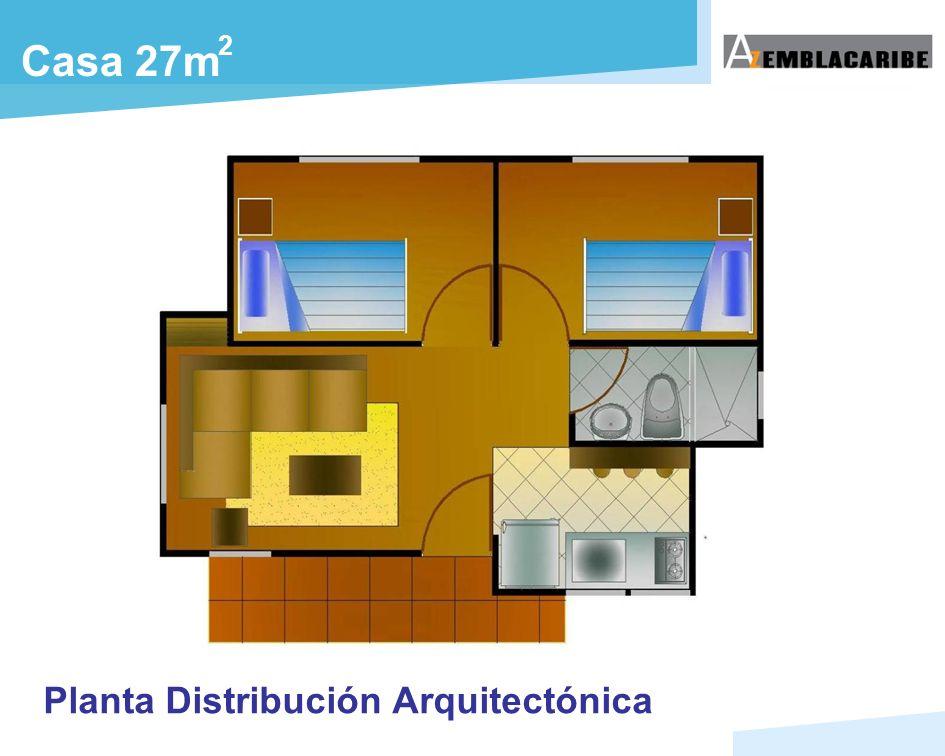 Casa 27m 2 Planta Distribución Arquitectónica