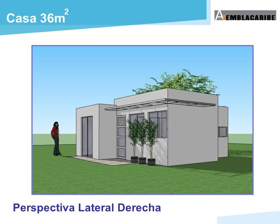 Casa 36m 2 Perspectiva Lateral Derecha