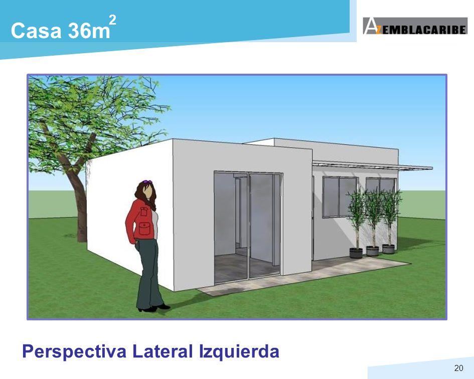 20 Casa 36m 2 Perspectiva Lateral Izquierda