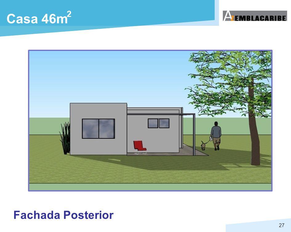 27 Casa 46m 2 Fachada Posterior
