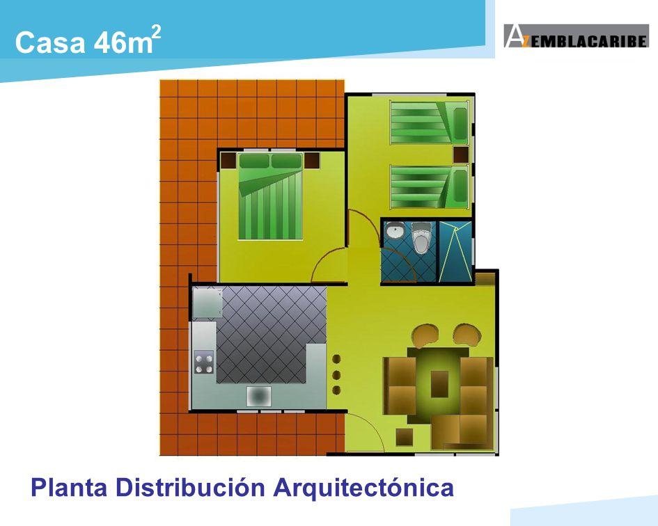 Casa 46m 2 Planta Distribución Arquitectónica
