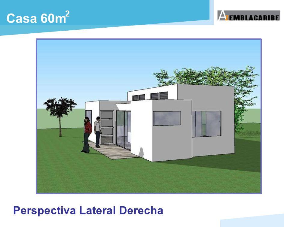 Casa 60m 2 Perspectiva Lateral Derecha