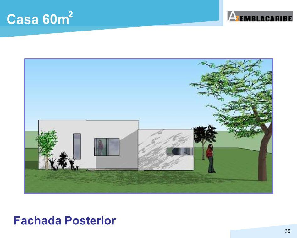 35 Casa 60m 2 Fachada Posterior